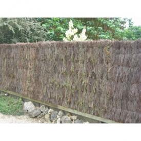Brande de bruyere 100% naturelle : clôture épaisse en panneaux pour jardin